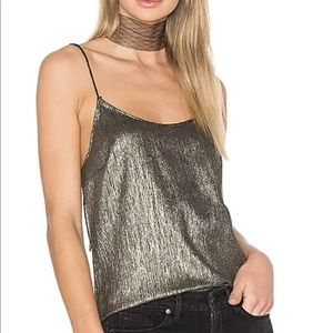 Paige X Rosie HW good metallic Cami shirt S NEW